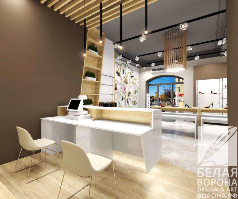 дизайн-проект кассовой зоны для торгового зала cover