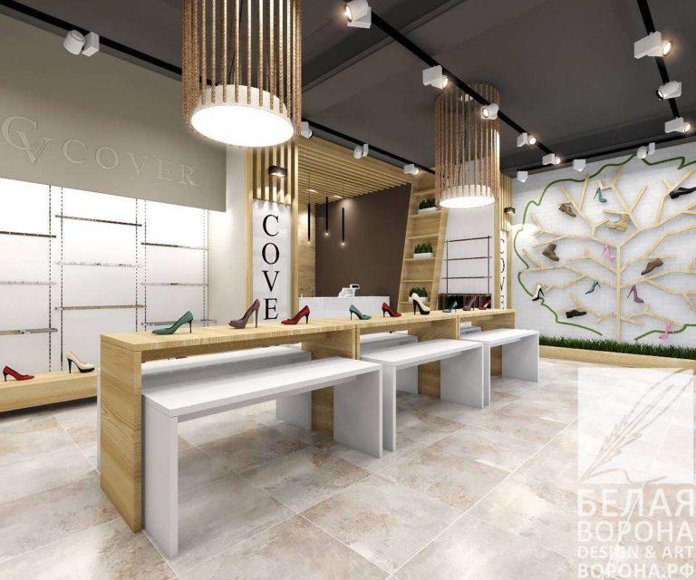 Дизайн интерьера торгового зала 1
