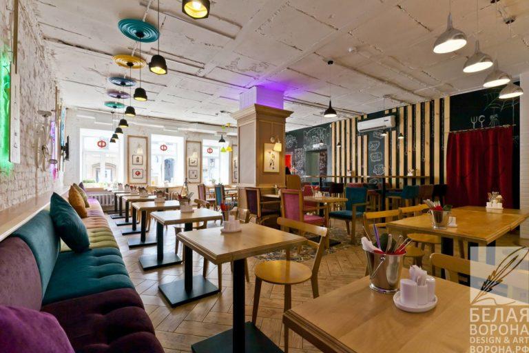 Расположение столов в помещении ресторана дизайн-проект.