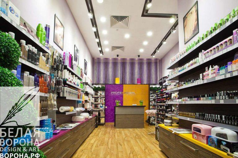 дизайн интерьер коммерческого помещения в с применением ярких цветовых элементов