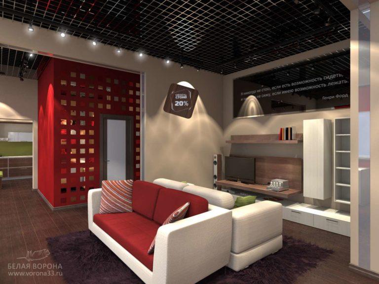дизайн интерьера для размещения мебельной продукции