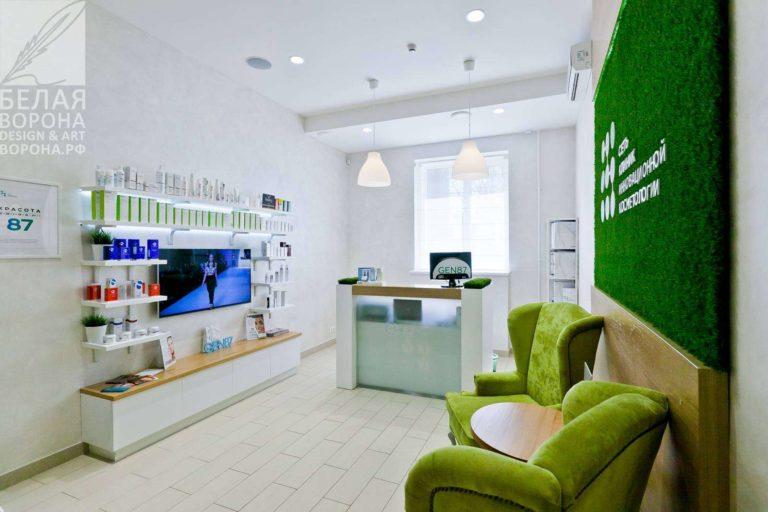 Дизайнерский проект зоны отдыха для салона красоты