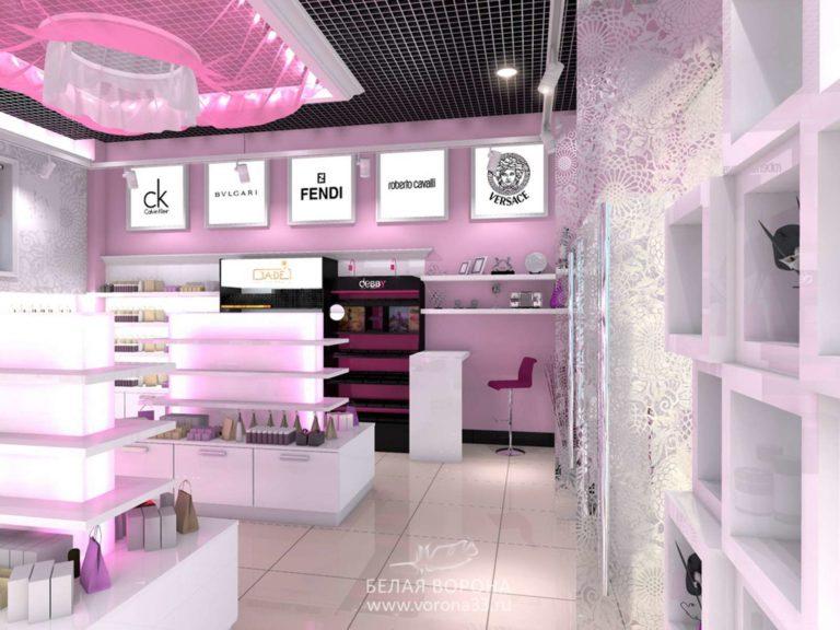дизайн интерьера торгового зала
