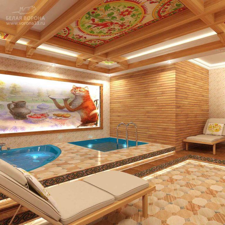 дизайн проект сауны для банного комплекса