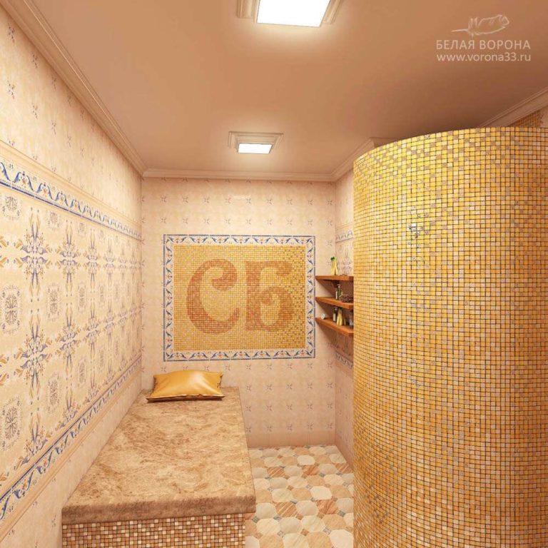 интерьер душевой банного комплекса 2