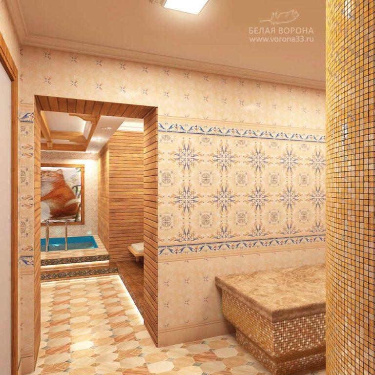 дизайнерский проект для банного комплекса