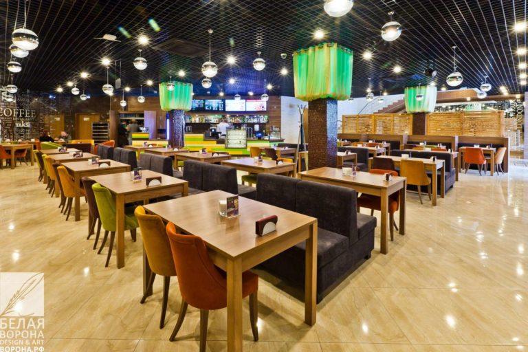 мебель для зала ресторана самообслуживания в современном дизайне