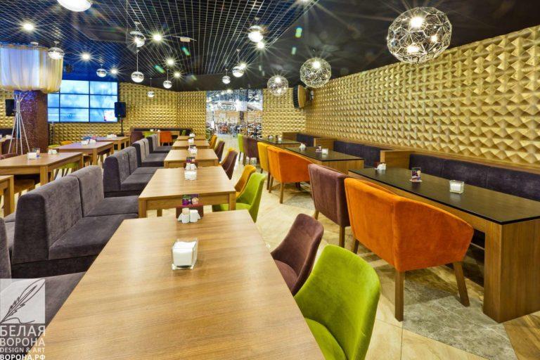Дизайн-проект для ресторана самообслуживания с элементами экостиля в коммерческом помещении