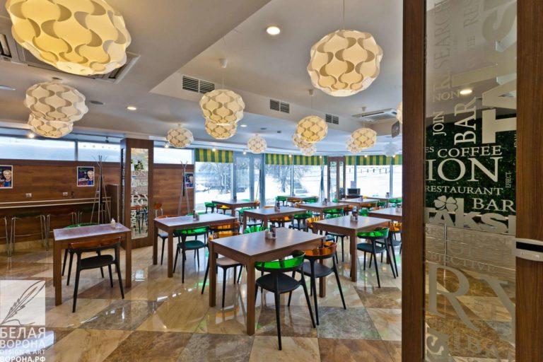 Дизайнерский проект зала ресторана самообслуживания