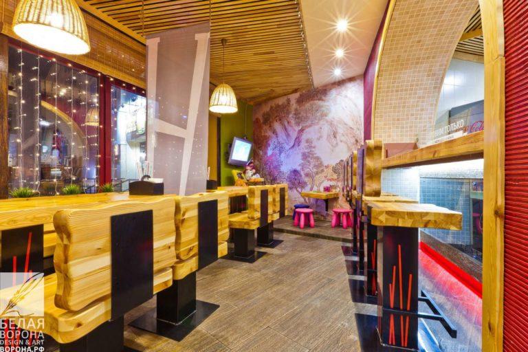 Дизайн-проект зала для гостей в современном интерьере коммерческого помещения