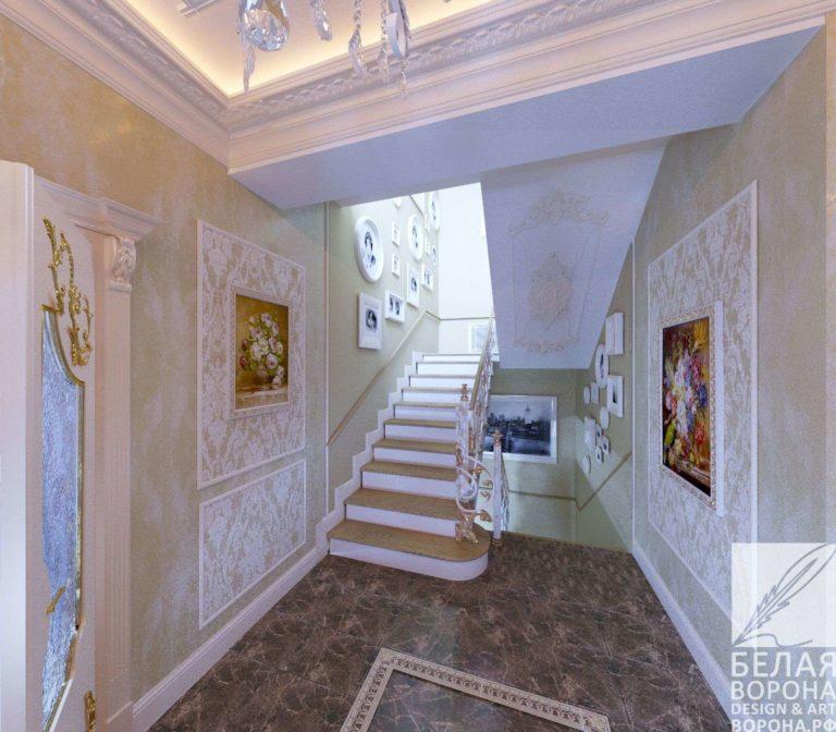 дизайн интерьер квартиры в с применением лёгких цветовых акцентов