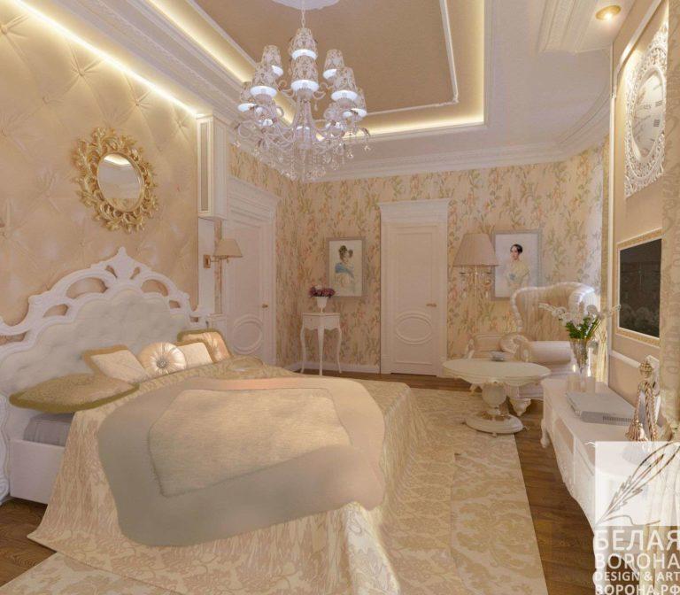 дизайн проект спальни в современном интерьере
