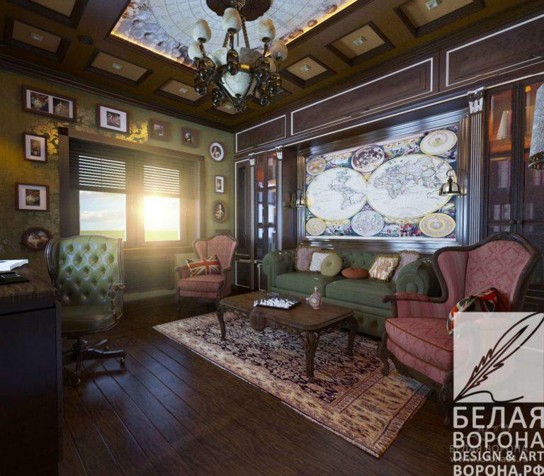 дизайн проект квартиры в современном стиле в контраста тёплых и холодных цветов