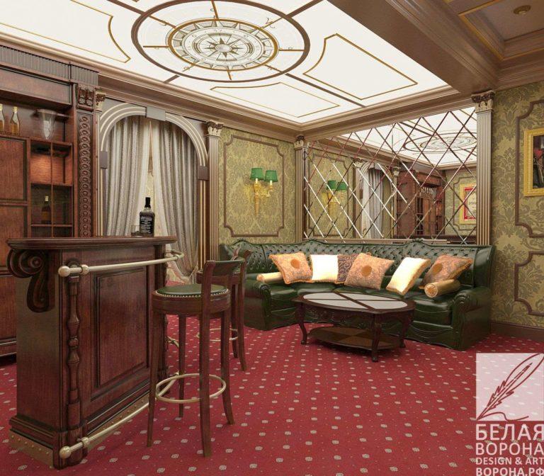 дизайн проект просторной квартиры в классическом стиле