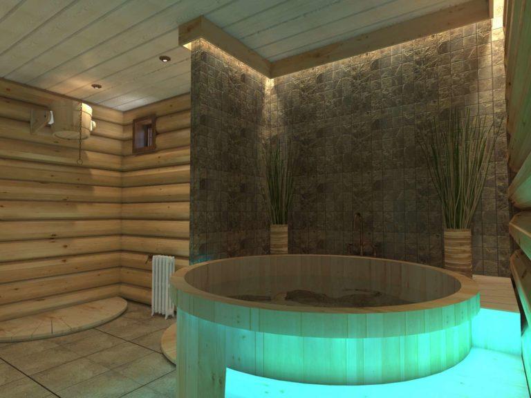 дизайн проект ванной в с применением лёгких цветовых акцентов из натуральных элементов