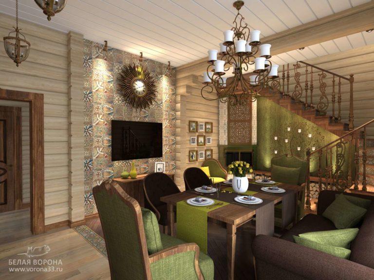 дизайн проект просторной гостинной в контексте ярких цветовых пятен