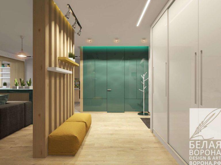 Деление пространства в дизайне интерьера с применением натуральных материалов