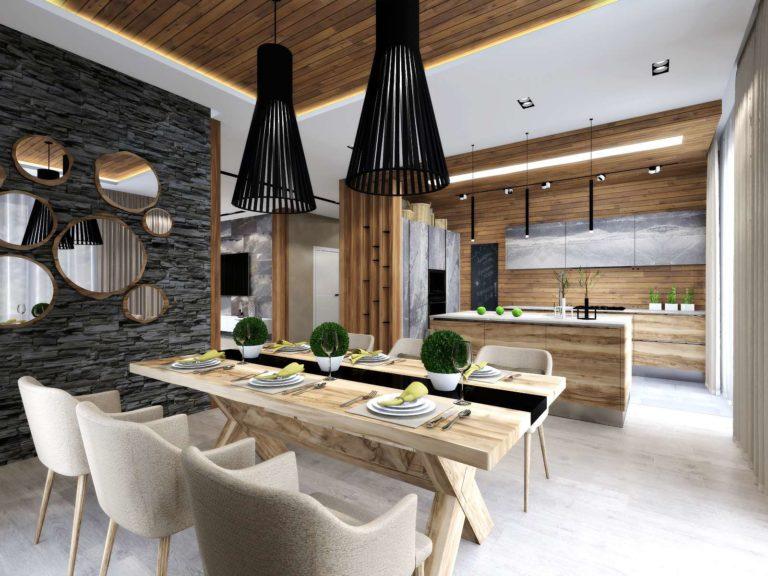визуализация кухни-столовой