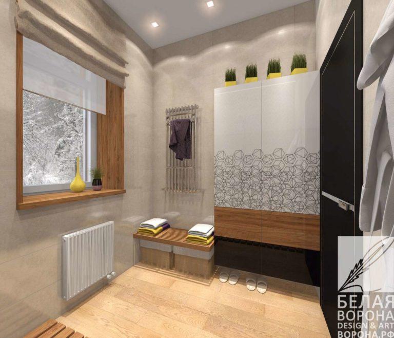 дизайн интерьер ванной в светлых тонах