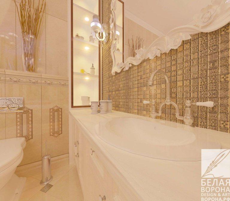 дизайн проект ванной в современном интерьере