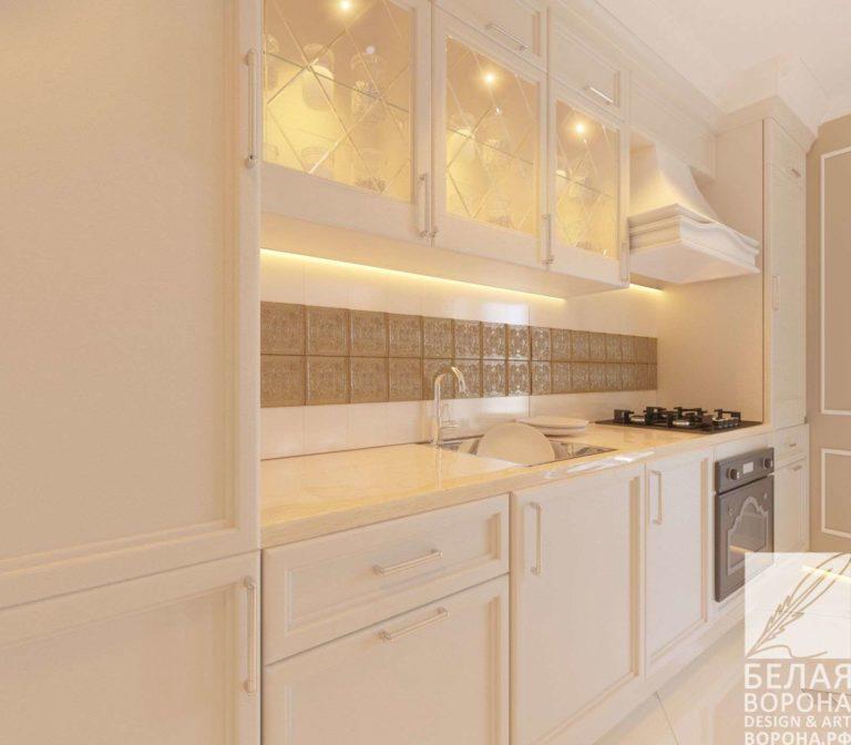 дизайн проект квартиры в современном стиле в с применением лёгких цветовых акцентов