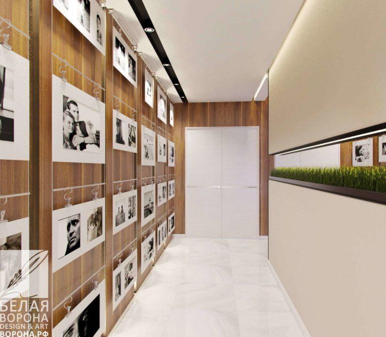 Дизайнерский проект коридора и декоративные элементы в украшении интерьера