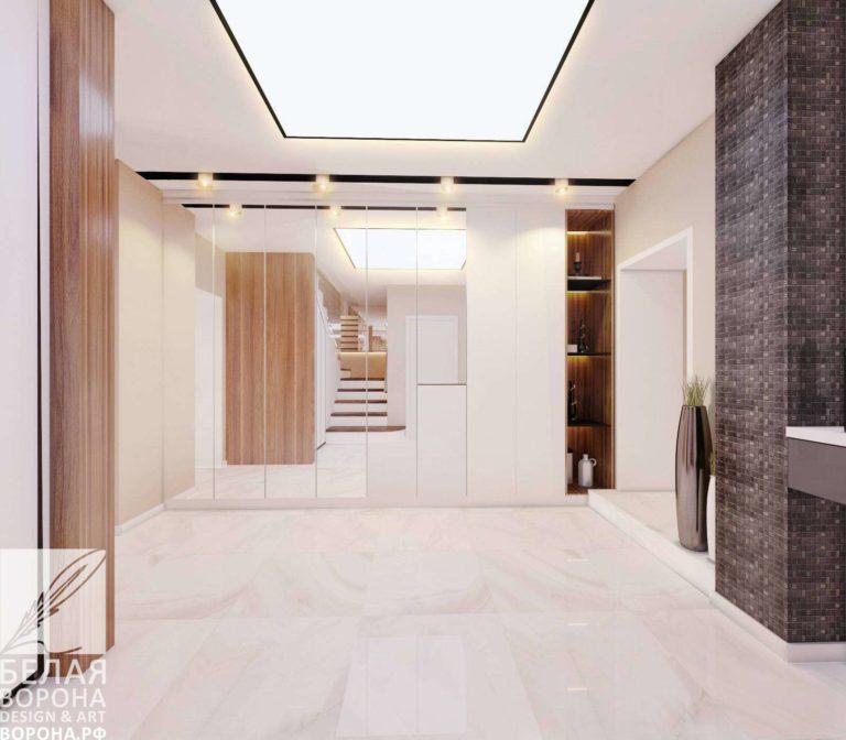 дизайн интерьер квартиры в современном стиле в с применением лёгких цветовых акцентов