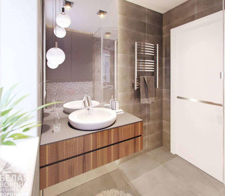 Раковина в пространстве современной ванной