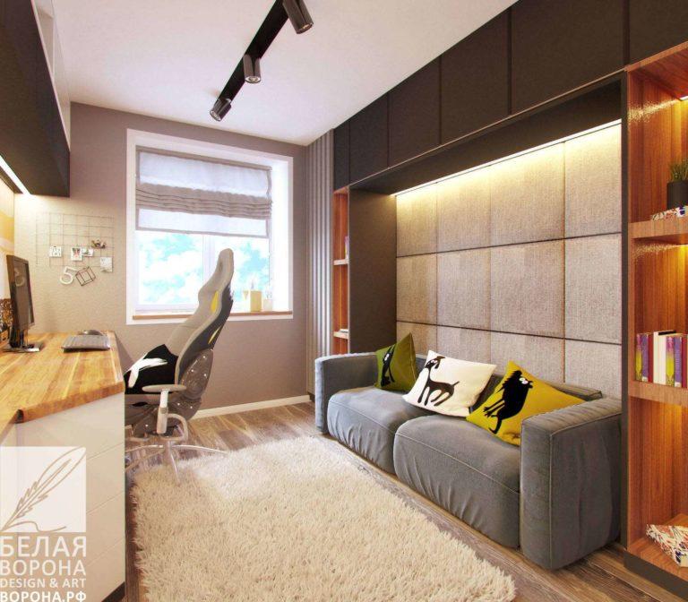 Зона отдыха в современном дизайн-проекте спальни