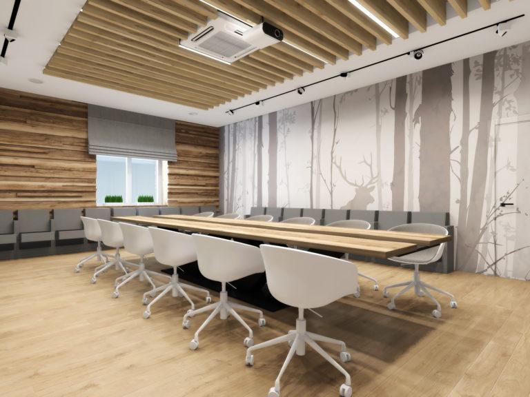 фотообои в интерьере офисного помещения