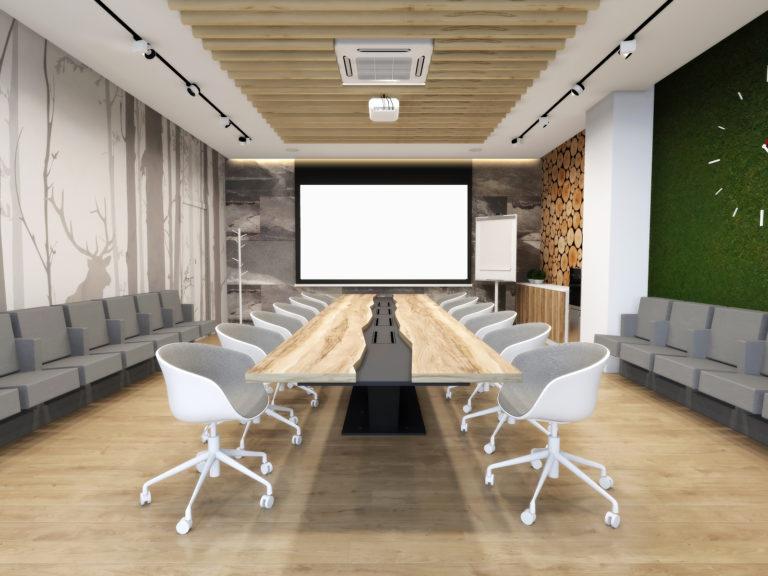 эко стиль в дизайне конференц зала