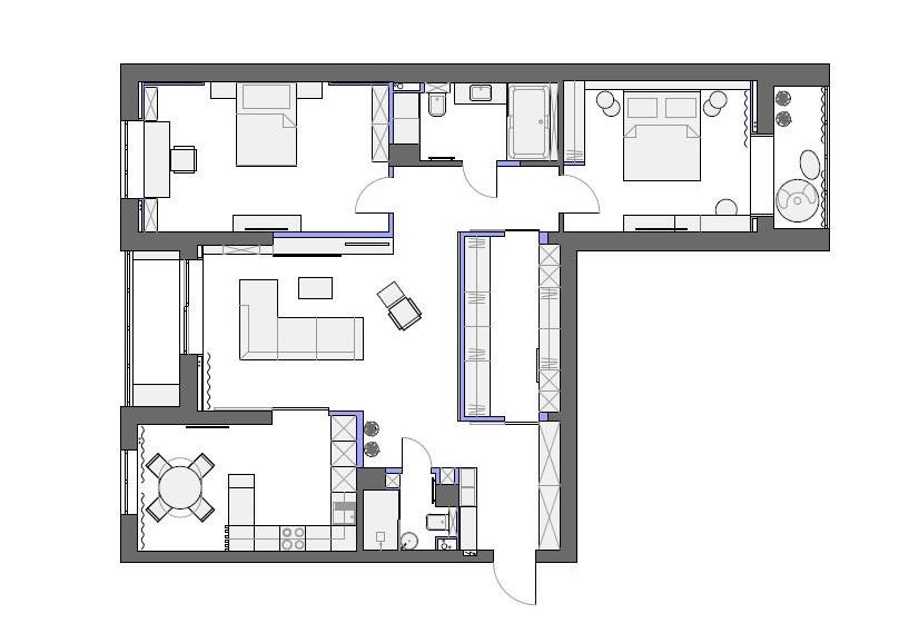 план квартиры от дизайнера