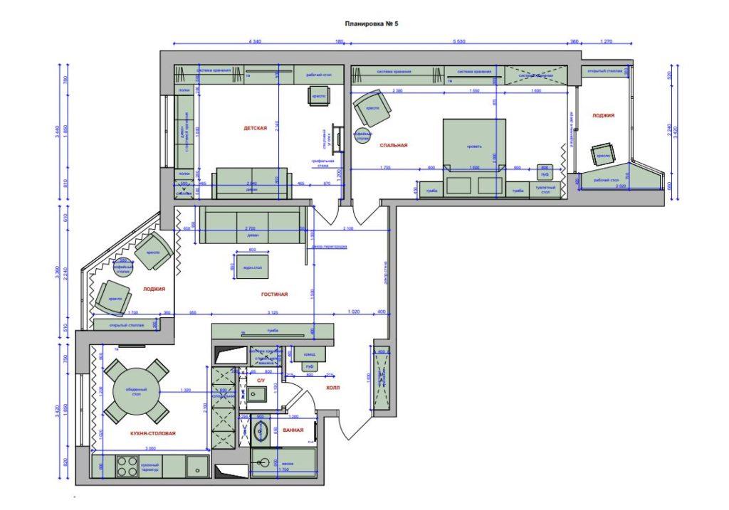 дизайн квартиры во Владимире
