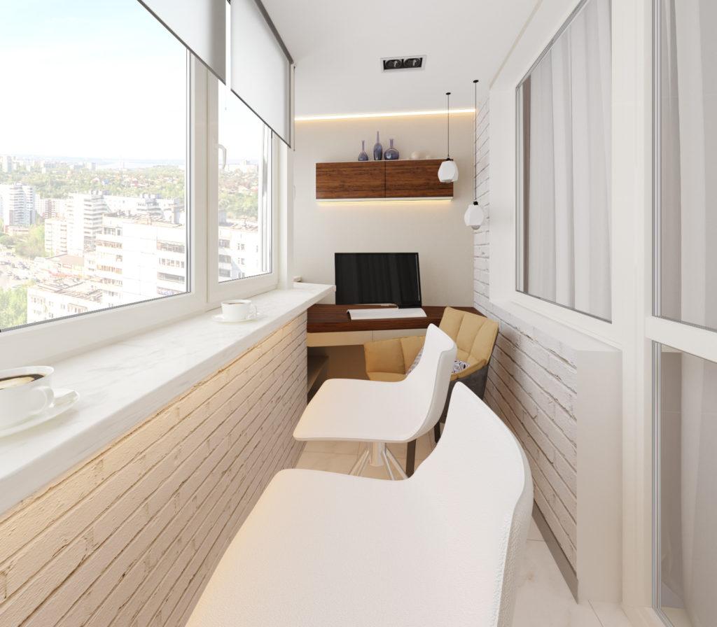 Лоджия в интерьере современной квартиры. Планировка жилья