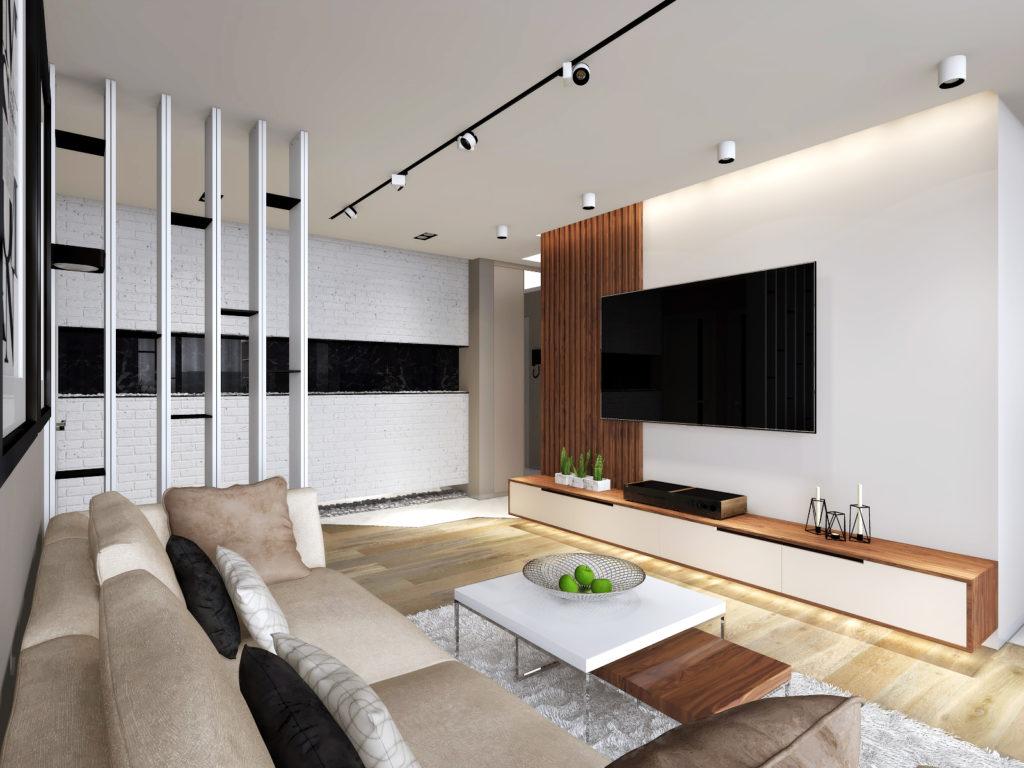 Современный дизайн-проект интерьера гостиной. Планировка жилья