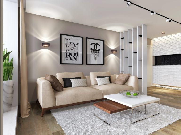 дизайн диванной зоны