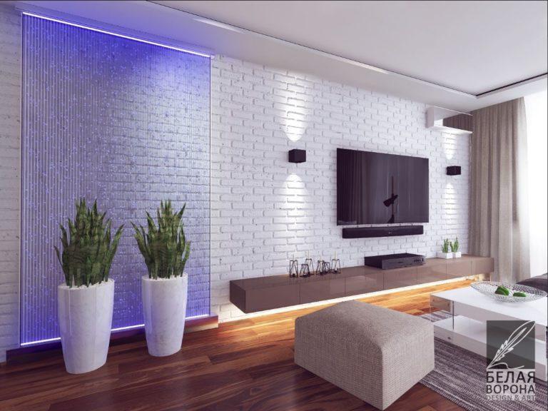 Уютная гостинная в современном стиле