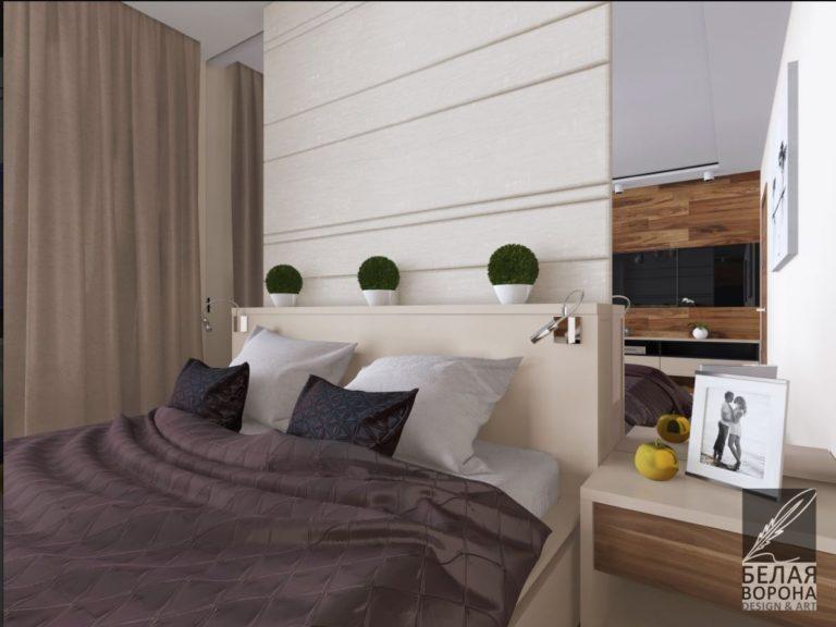 Спальня с элементами в виноградных оттенках 2