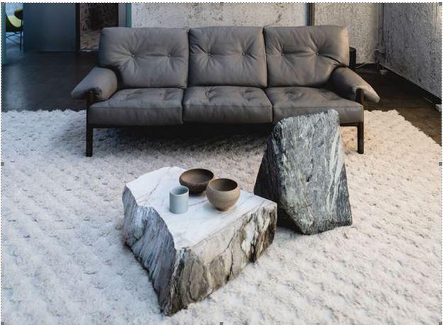 Применение природных материалов в интерьере. Необработанные каменные плиты в интерьере