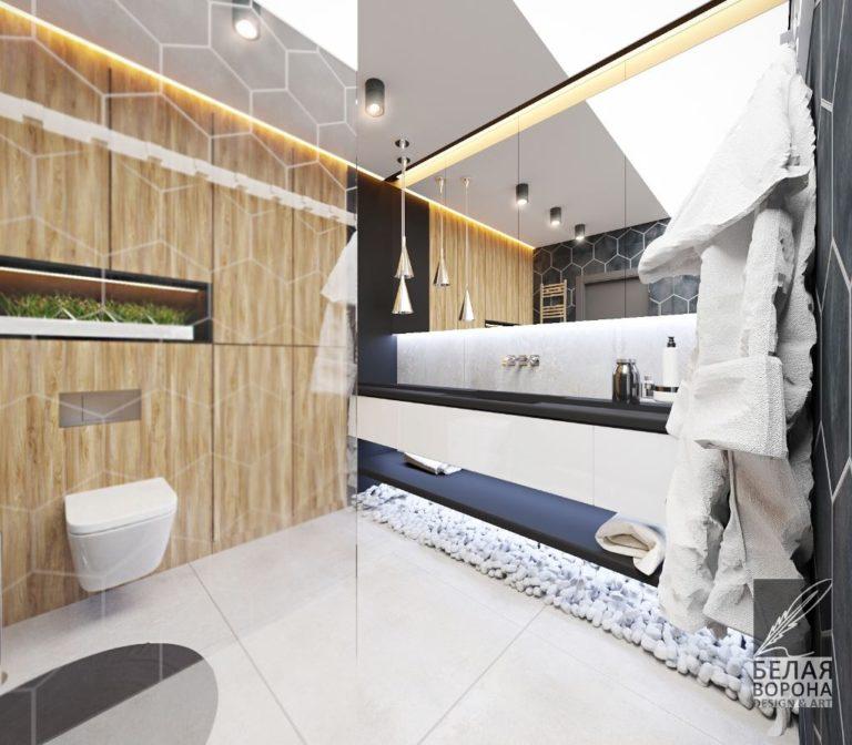 Туалетная комната в современном интерьере