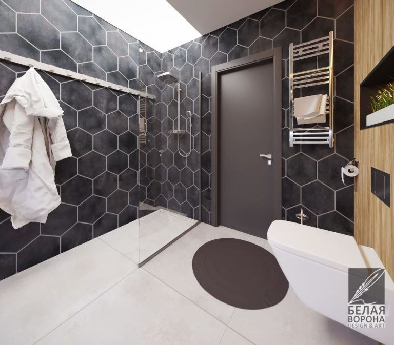 Туалетная комната в современном дизайн-проекте