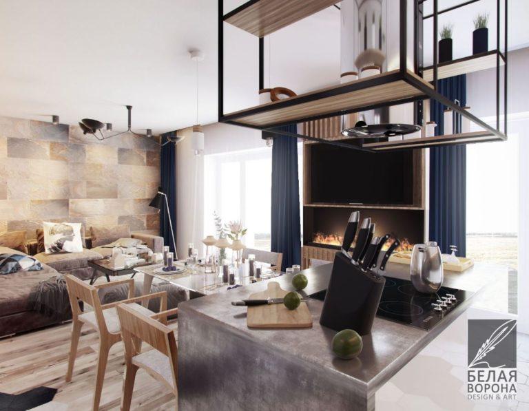 Интерьер кухни-столовой. Дизайн-проект