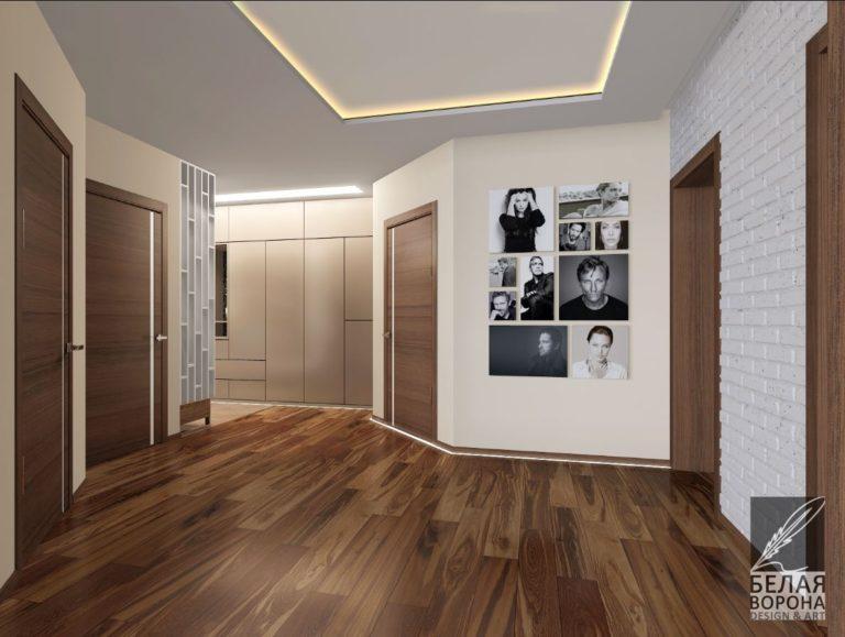 Холл в интерьере современной квартиры дизайн-проект