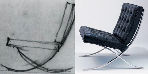 Кресло Людвига Мис ван дер Роэ, мебель стиля баухаус