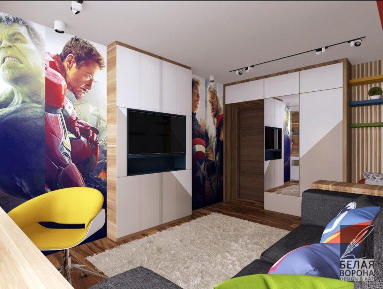 спальня с элементами стиля фанарт в светлой гамме