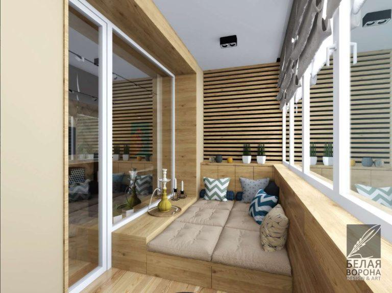 Дизайн проект зоны отдыха в современной квартире