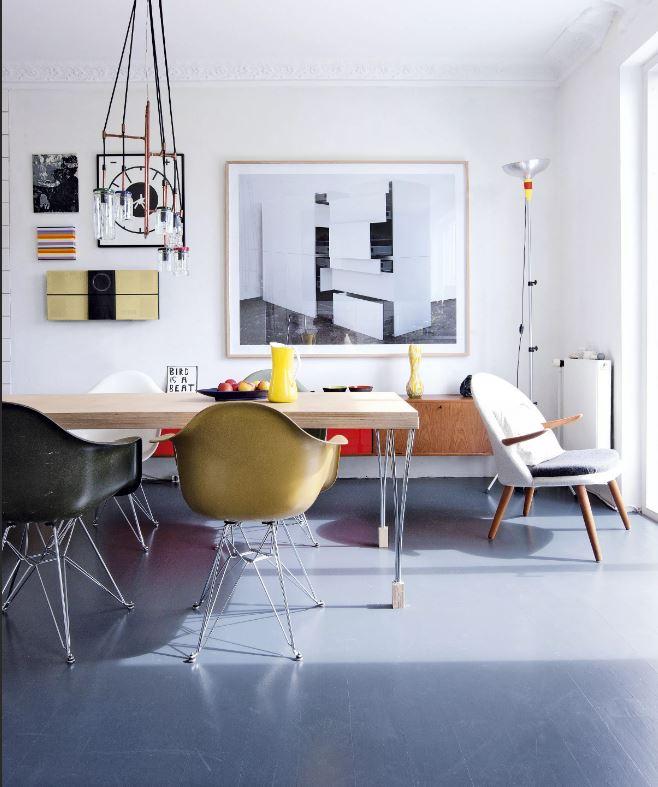 Стиль баухаус в интерьере столовой