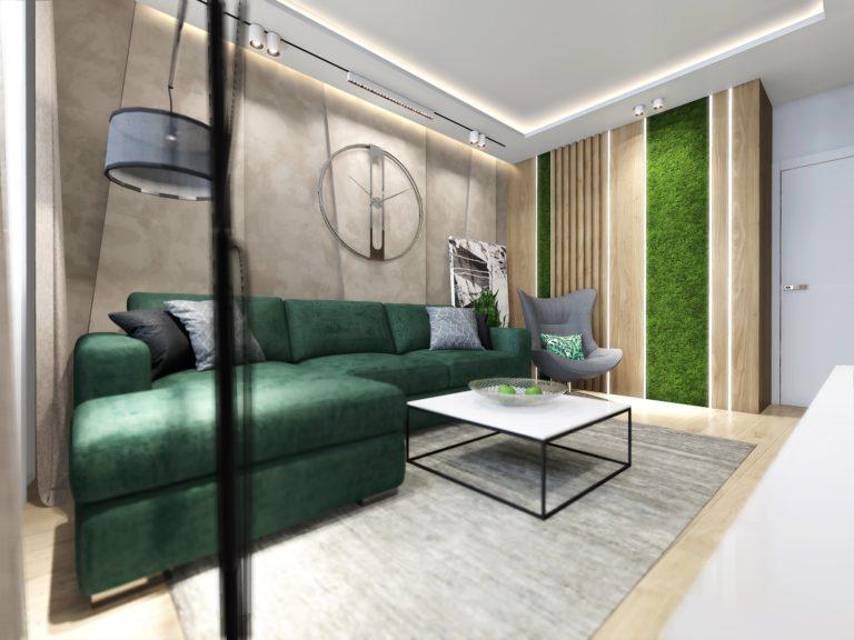 Дизайн интерьера 2-х комнатной квартиры «Изумруд»