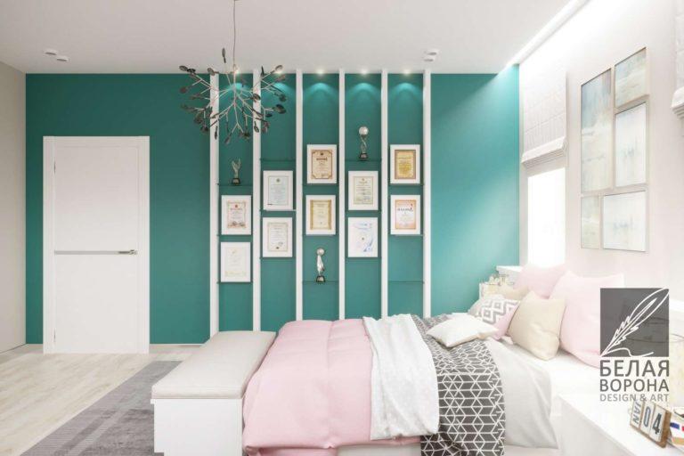 Интерьер спальни в стиле авангард