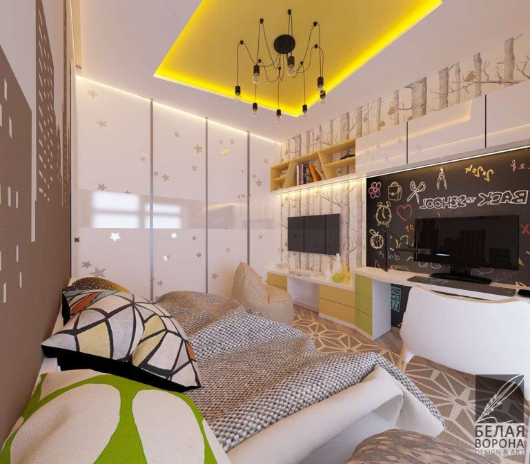 Спальня в ярких тонах. Игра с цветом в дизайн-проекте